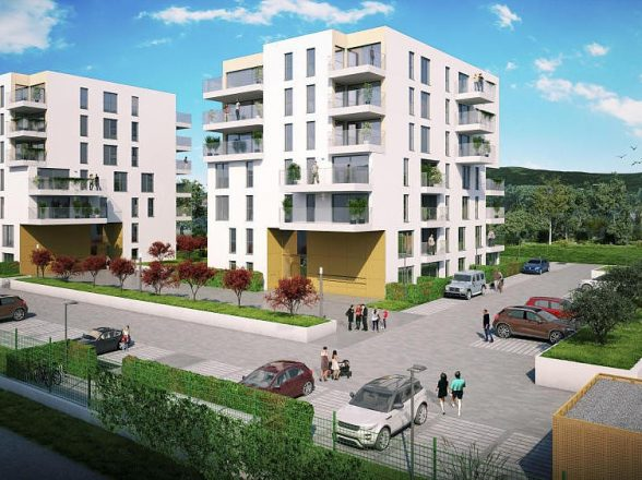 Neubau von zwei Mehrfamilienhäusern mit 62 Wohneinheiten auf einer Tiefgarage in Oberursel